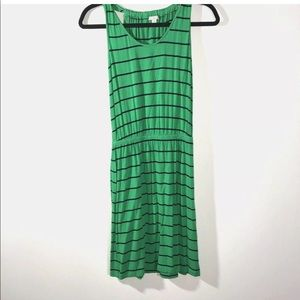 Gap Size XS Rouched Navy Stripe Summer Dress Green